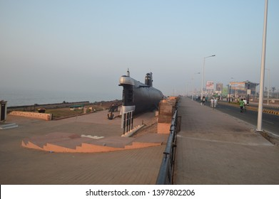 Vizag, Andhra Pradesh, India - January 27, 2015 : INS Kursura Submarine Museum