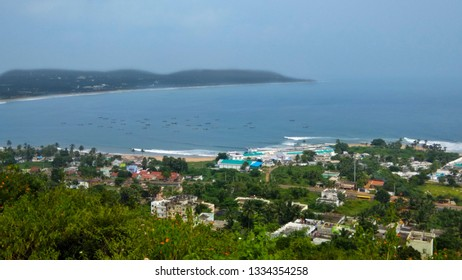 VIZAG - OCT 23 : Photo taken from Vizag Beach on Oct 23 , 2017 in India , Vizag. It is a beautiful place and tourist attraction.