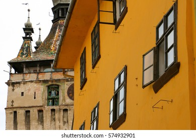 Vlad the Impaler's birthplace and the Clock Tower, Sighisoara, Romania