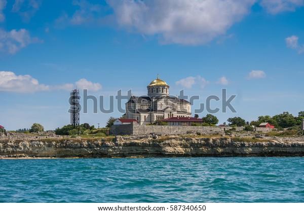 The Vladimir Cathedral (the Tavridas Chersonese), Chersonese (Sevastopol, Crimea, Ukraine). June 2006