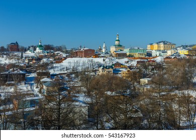 Vladimir city, Russia. Winter view of the historic center of the city.