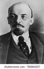 Vladimir Ilyich Ulyanov Lenin, c. 1920. Russian communist revolutionary, politician, and theorist. He lead the Bolshevik revolution and headed the Russian government from 1918-1924