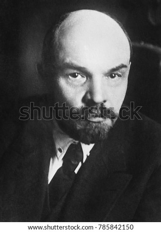 Vladimir Ilyich Ulyanov Lenin, head of government of the Soviet Union, 1919. His government faced civil war and famines as they began to build their socialist society