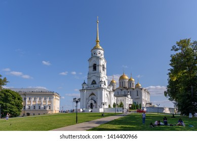 Vladimir, Russia - August 18, 2018: The main cathedral of Vladimir city - Assumption Cathedral.