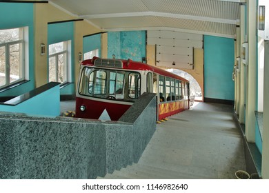 Vladivostok funicular sappeared on the Orlinaya Sopka's slope in 1962, with patronage of the then USSR's ruler Nikita Khrushchev.