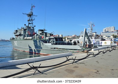 Vladivostok, October, 05, 2015.  base minesweeper BT-114