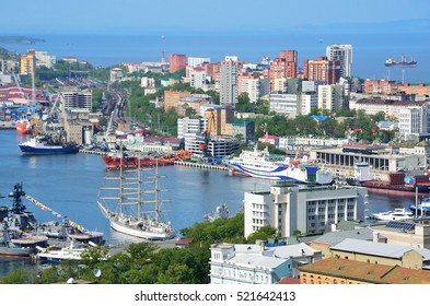 Vladivostok, Russia, June, 01, 2016. View for Vladivostok city  in summer in sunny day