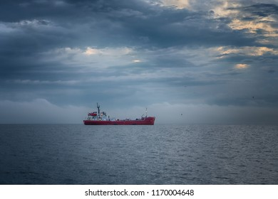 Vladivostok, Russia - June 20 2018: Oil products tanker Nord in Amur bay