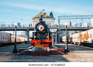 Vladivostok, Russia - September 16, 2018 : Vladivostok railway station