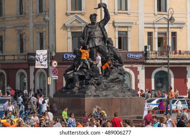 VLADIVOSTOK, RUSSIA - SEPTEMBER 25, 2016: Celebration at central square of Vladivostok in honor of the Tiger Day. In Vladivostok, the Tiger Day is celebrated on the last Sunday of September.