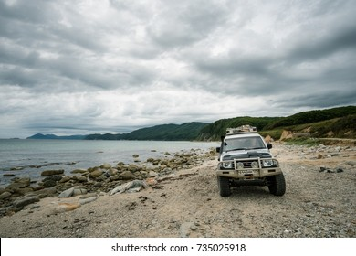 VLADIVOSTOK, RUSSIA - SEPTEMBER 26, 2017: Expedition along north-east coasline of Primory, Russia.