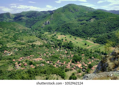 Vlasi small village in the valley of Jerma River, Serbia - Shutterstock ID 1052962124
