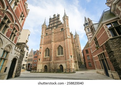 The Vleeshuis, also Butcher's Hall or Meat Hall, is a former guildhall in the center of Antwerp, built in the early 16th Century.