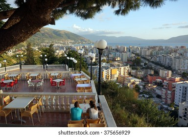 VLORE, ALBANIA - AUGUST 16th, 2014: View of the city Vlore in Albania. Vlore is the second largest port city of Albania, after Durrës.