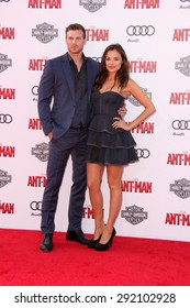 "vLOS ANGELES - JUN 29:  Derek Theler, Christina Ochoa at the ""Ant-Man"" Los Angeles Premiere at the Dolby Theater on June 29, 2015 in Los Angeles, CA"