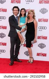 "vLOS ANGELES - JUN 29:  John Fortson, Abby Ryder Fortson, Christie Lynn Smith at the ""Ant-Man"" Los Angeles Premiere at the Dolby Theater on June 29, 2015 in Los Angeles, CA"