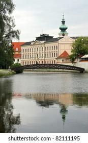 Vltava river in Ceske Budejovice, Czech republic
