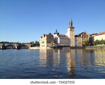 The Vltava river in Prague Czech Republic