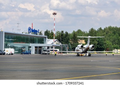 VNUKOVO, July 02, 2018 : The business jet in front of business terminal