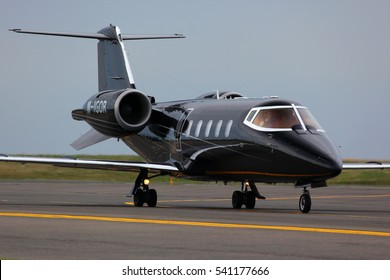 VNUKOVO, MOSCOW REGION, RUSSIA - JUNE 24, 2011: Private Bombardier Learjet 60 M-IGOR taxiing at Vnukovo international airport.
