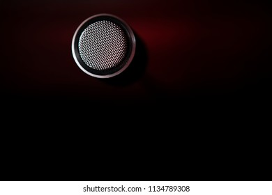 vocal microphone surface in studio