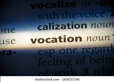 vocation word in a dictionary. vocation concept, definition.