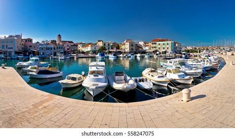 Vodice harbor and waterfront summer view, Dalmatia, Croatia