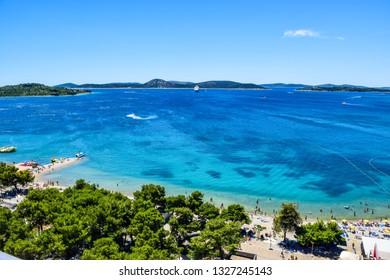 The Vodice resort and island Prvic, Croatia.