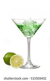 Vodka martini isolated on white background