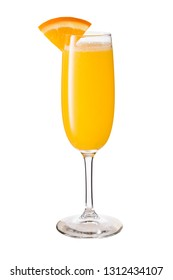 Vodka Orange Juice Mimosa Cocktail on White with a Clipping Path