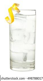 Vodka Tonic or Soda on White