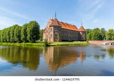 Voergaard Castle near Dronninglund on the North Jutland peninsula