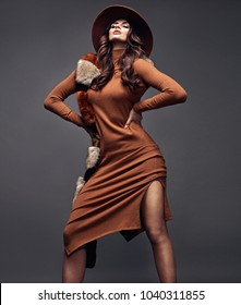 Vogue style portrait of an attractive and stylish woman