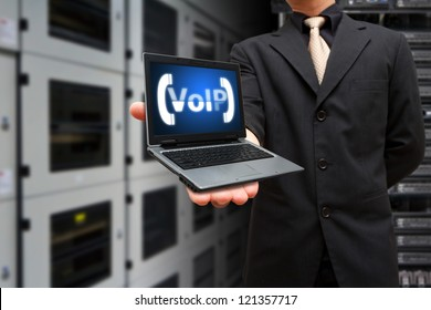 VoIP icon on laptop