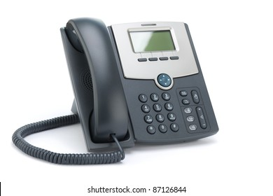 VOIP phone (IP phone) isolated on a white background.