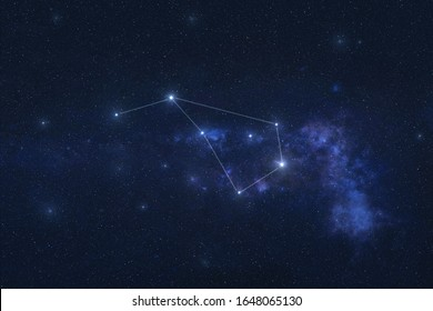 Volans constellation stars in outer space. Fying fish constellation lines. Elements of this image were furnished by NASA