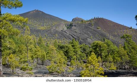 Volcan Martin from the Ruta de Los Volcanes hiking route, La Palma