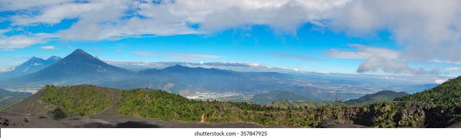 Volcan Pacayan in Antigua, Guatemala.
