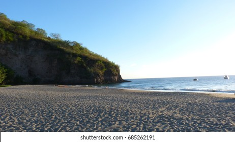 Volcanic beach of martinique