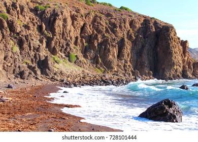 Volcanic Beach in summer