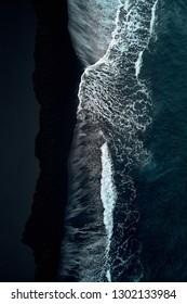 Volcanic black sand in Lanzarote