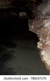in volcanic caves can be accessed with a guided tour