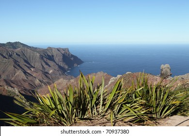 Volcanic coastline of Sandy Bay on St Helena Island