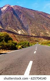 Volcanic desert in Tenerife