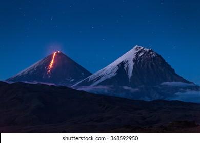 Volcanic eruption on Kamchatka