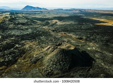 Volcanic field full of crater, Iceland