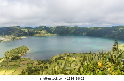 "Volcanic lake ""Sete Cidades"" on Sao Miguel / Azores"