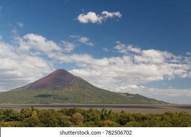 Volcanic landscape around ruins of Leon Viejo, UNESCO Heritage site, Nicaragua