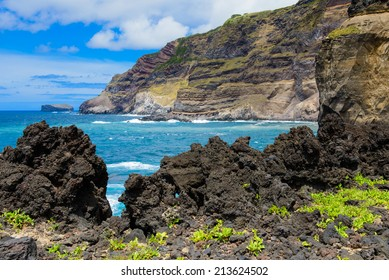 Volcanic landscape of the Azores, Portugal, Europe