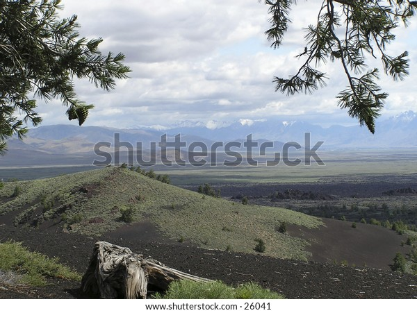 volcanic landscape at Craters of the Moon National Monument of Idaho, USA